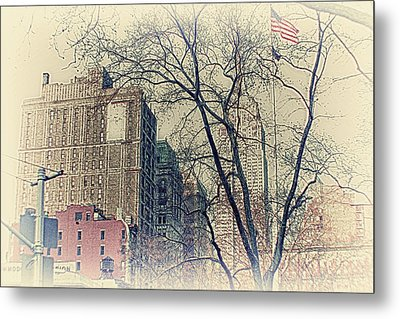Old Glory In Old Style And Empire Metal Print by Alex AG