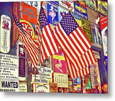 Metal Print featuring the photograph Old Glory by Joan Reese
