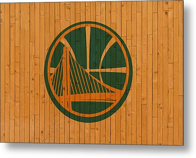 Old Golden State Warriors Basketball Gym Floor Metal Print by Design Turnpike