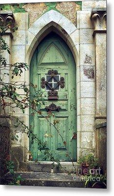 Old Gothic Door Metal Print by Carlos Caetano