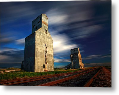 Old Grain Elevators Metal Print
