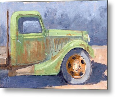Old Green Ford Metal Print