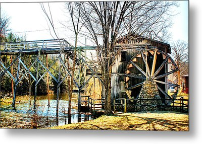 Old Gristmill Metal Print by Rick Friedle