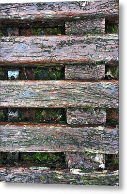 Old Grungy Wood Planks Metal Print by Tom Gowanlock