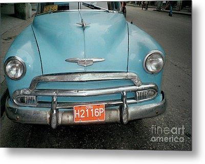 Old Havana Cab Metal Print by Quin Sweetman