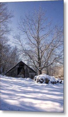 Old Hay Barn Boxley Valley Metal Print by Michael Dougherty