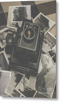 Old History Camera Metal Print