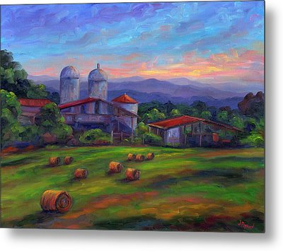 Old Hollabrook Farm At Dusk Metal Print by Jeff Pittman