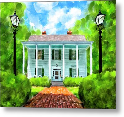 Metal Print featuring the mixed media Old Homestead - Smith Plantation - Roswell Georgia by Mark Tisdale