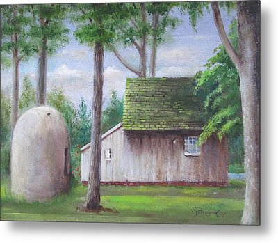 Old House And Oven Metal Print by Oz Freedgood