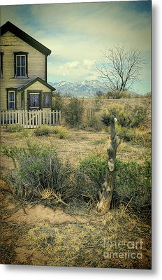 Metal Print featuring the photograph Old House Near Mountians by Jill Battaglia