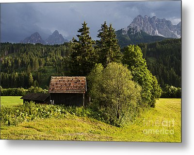 Metal Print featuring the photograph Old Hut In Austria by Yuri Santin