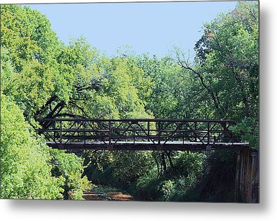 Metal Print featuring the photograph Old Iron Bridge Over Caddo Creek by Sheila Brown