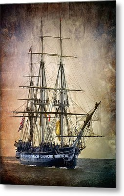 Old Ironsides Metal Print by Fred LeBlanc