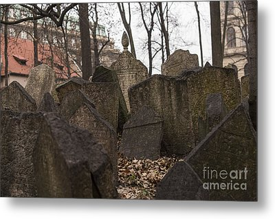Old Jewish Cemetery In Prague Metal Print