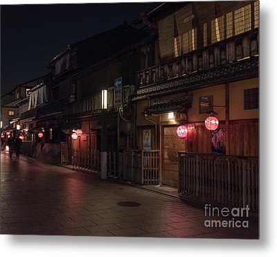 Old Kyoto Lanterns, Gion Japan Metal Print