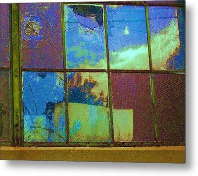Old Lace Factory Window Metal Print by Don Struke