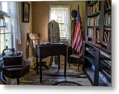 Metal Print featuring the photograph Old Library by Ann Bridges