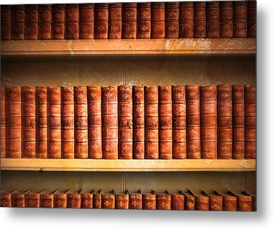 Old Library Metal Print by Tom Gowanlock