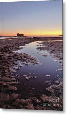 Old Lifesavers Building At Twilight Metal Print by Angelo DeVal