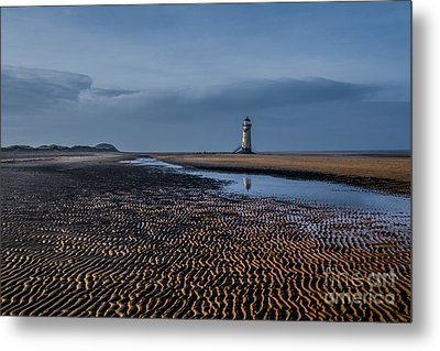 Old Lighthouse In Talacre  Metal Print