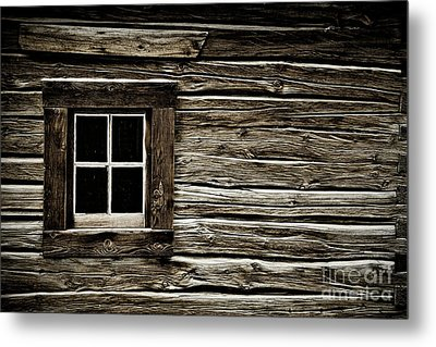 Metal Print featuring the photograph Old Log Cabin by Brad Allen Fine Art