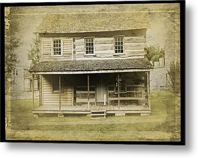 Metal Print featuring the photograph Old Log Cabin by Joan Reese