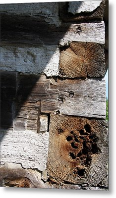 Metal Print featuring the photograph Old Log House Detail by Joanne Coyle