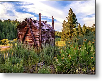 Old Lumber Mill Cabin Metal Print by James Eddy