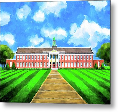 Old Main - Andalusia High School Metal Print