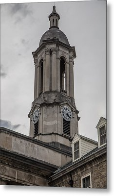 Old Main Penn State Clock  Metal Print