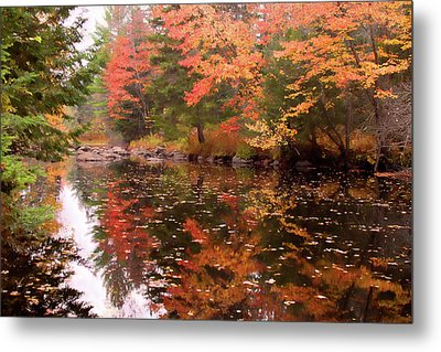Metal Print featuring the photograph Old Main Road Stream by Jeff Folger