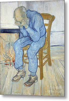 Old Man In Sorrow Metal Print by Vincent van Gogh