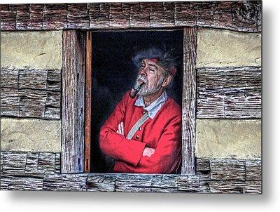 Old Man In Window Metal Print by Randy Steele
