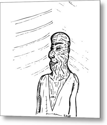 Old Man Metal Print by Karl Addison