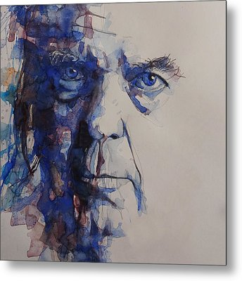 Metal Print featuring the painting Old Man - Neil Young  by Paul Lovering
