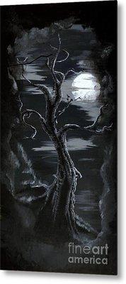 Old Man Tree And Goddess Moon Metal Print