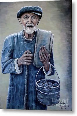 Old Man With His Stones Metal Print by Judy Kirouac