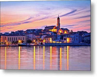 Old Mediterranean Town Of Betina Sunset View Metal Print