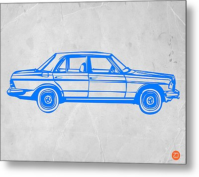 Old Mercedes Benz Metal Print by Naxart Studio
