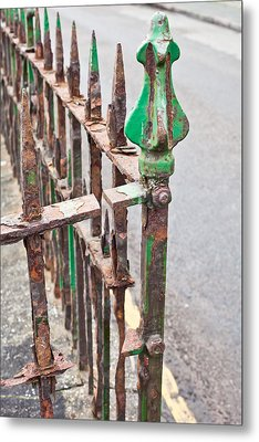 Old Metal Railings Metal Print by Tom Gowanlock