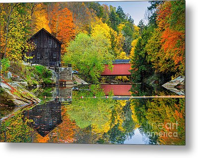 Old Mill In The Fall  Metal Print