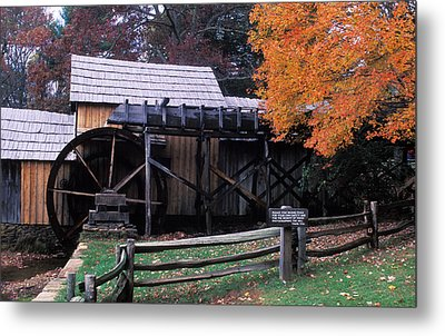 Old Mill In Virginia Metal Print by Carl Purcell