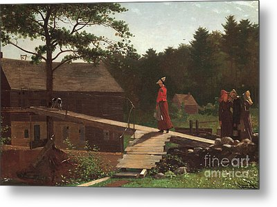 Old Mill, The Morning Bell, 1871 Metal Print by Winslow Homer