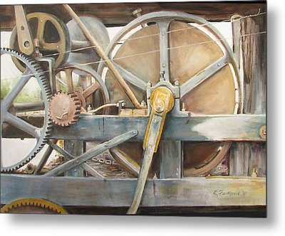 Old Mine Engine Metal Print by Oz Freedgood