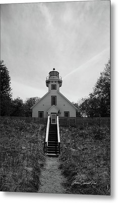 Metal Print featuring the photograph Old Mission Point Lighthouse by Joann Copeland-Paul