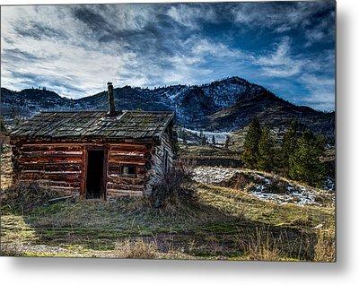 Old Montana Cabin Metal Print by Derek Haller