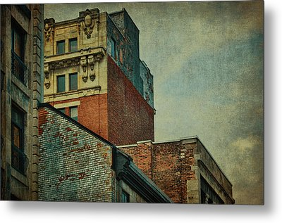 Old Montreal - Architectural Details Metal Print by Maria Angelica Maira