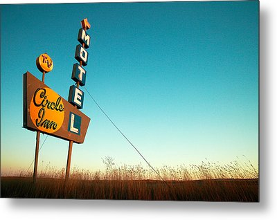 Old Motel Neon Metal Print