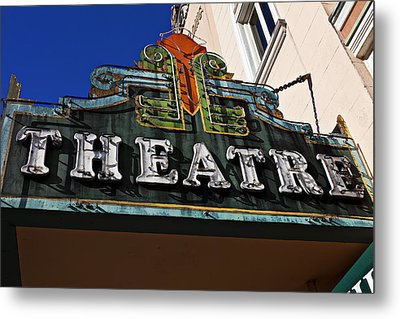 Old Movie Theatre Sign Metal Print by Garry Gay